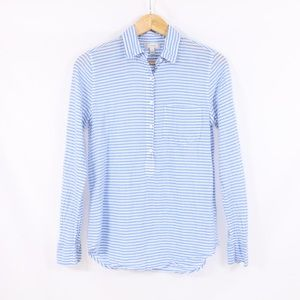 J. Crew Striped Popover Shirt